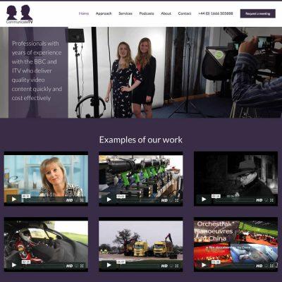 Web Design and Development for Communicte-tv