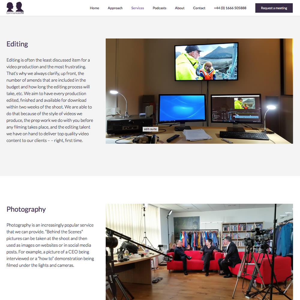 Web Design and Development for Communicte-tv