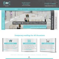 Web Design and Development for Exhibition Walls Company