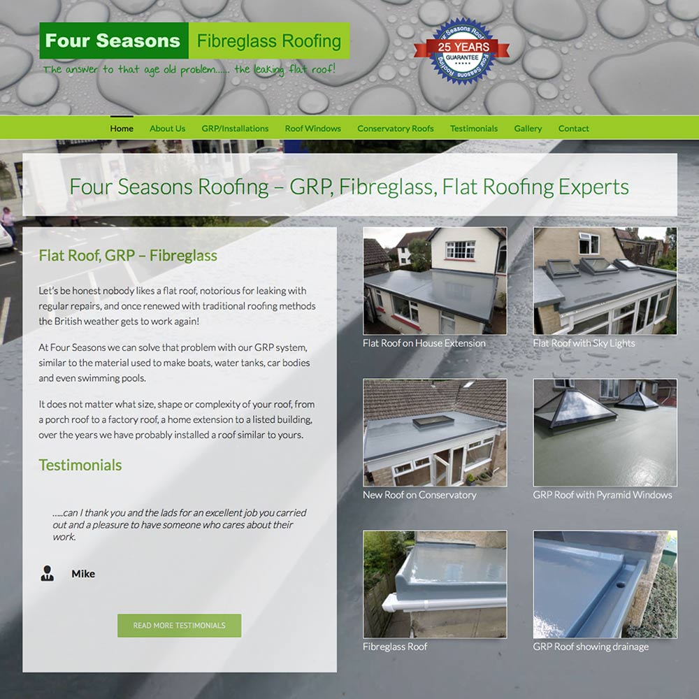 Four Seasons Roofing Swindon Web Design