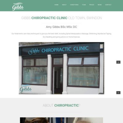 Web Design and Development for Gibbs Chiropractic Clinic