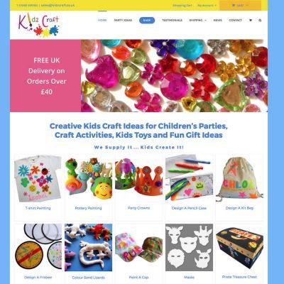 Web Design and Development for kidzcraft