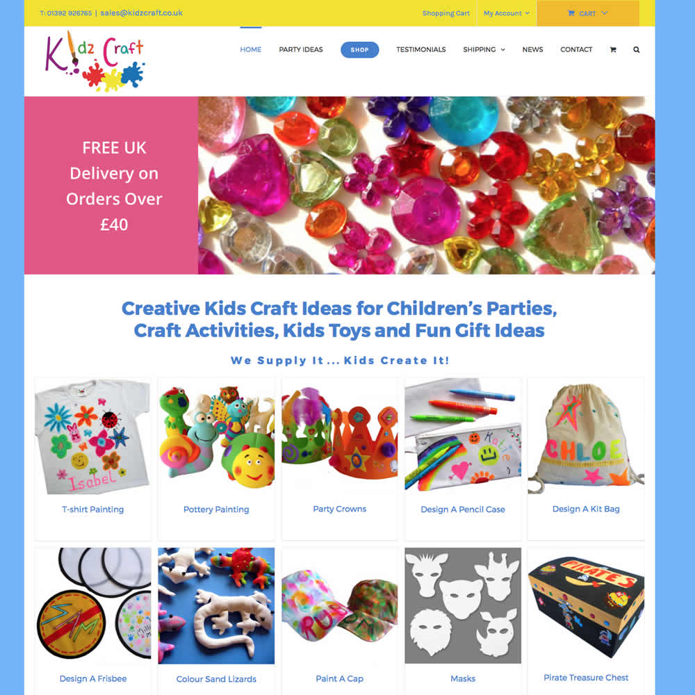 Web Design and Development for kidzcraft