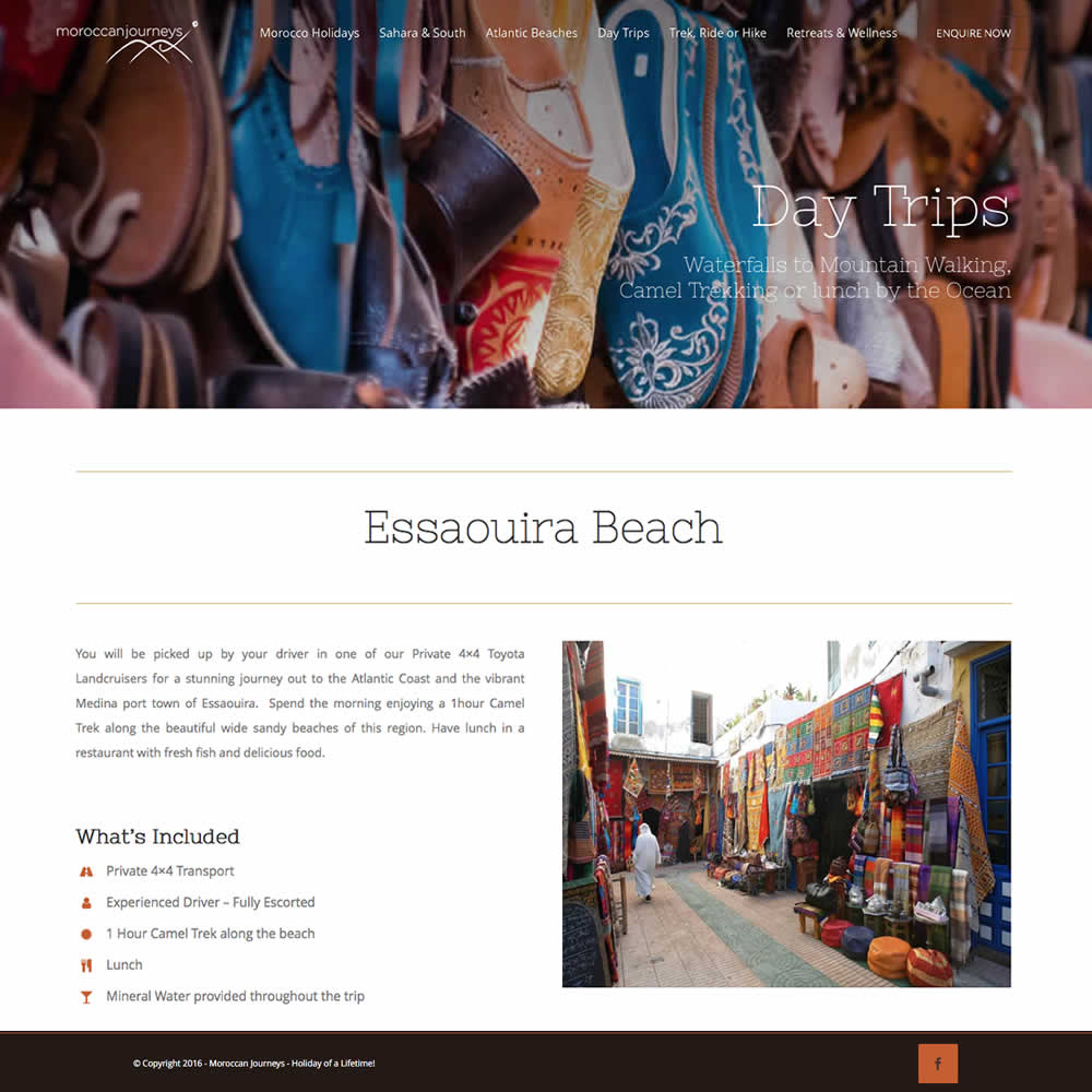 Web Design and Development for moroccan journeys