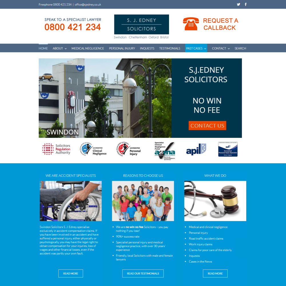 Web Design and Development for S.J. Edney Solicitors