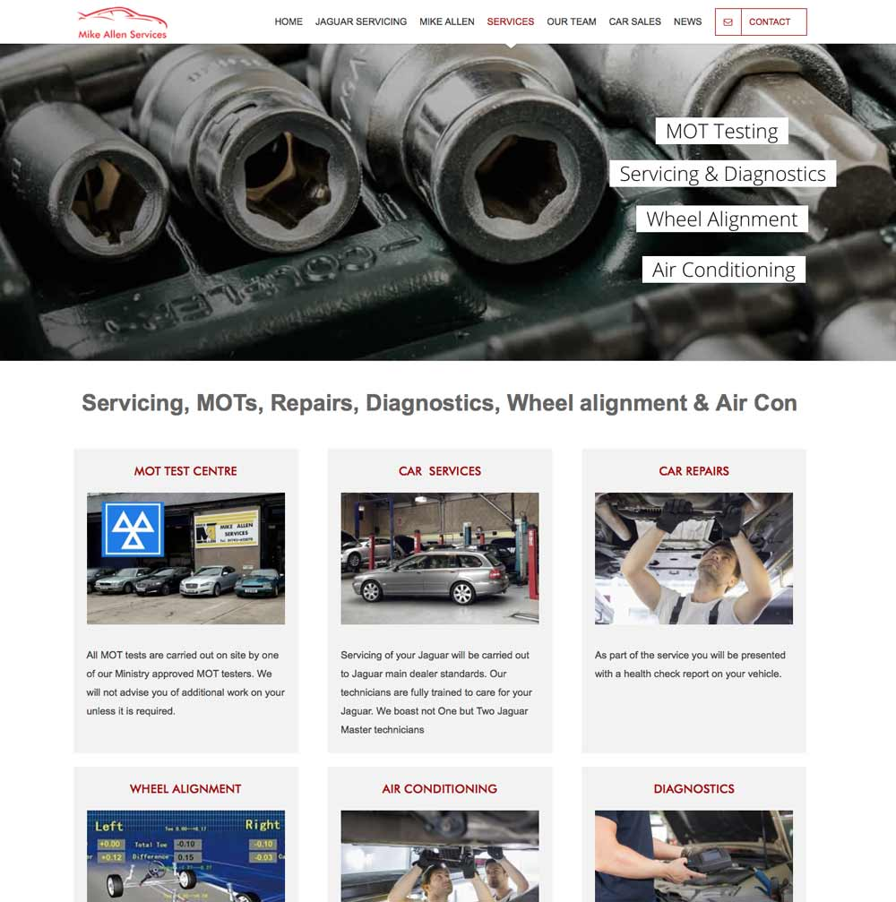 Website for Mike Allen Services