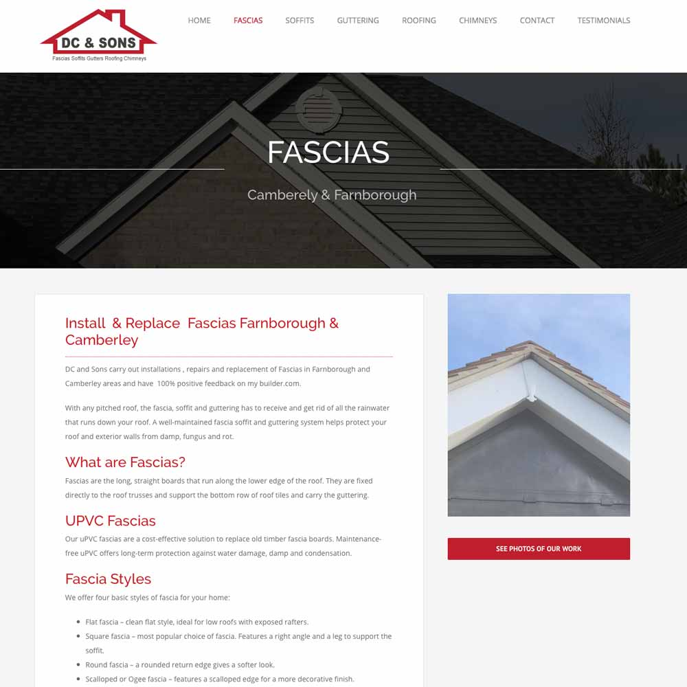 DC and sons roofers fascias