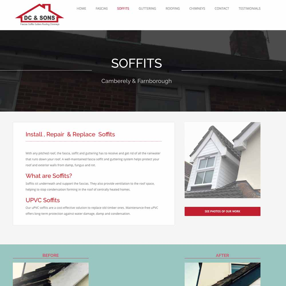 DC and sons roofers soffits